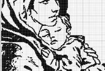 Madonna punto croce
