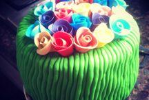 Flower cake #cakes #cakeart