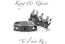 Anelli KING E QUEEN Argento designed by Alessandro Magrino / Anelli argento queen e king luxury jewelry made in Tuscany designed Alessandro Magrino Firenze Made in Italy http://shop.mariacristinasterling.it/categoria-prodotto/king__queen/