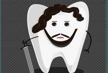 Funny Teeth / Śmieszne obrazki stomatologiczne/ medyczne