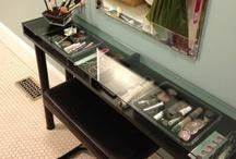 tocadores y organización maquillaje