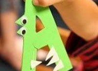 ABC animal crafts / animals made out of letters