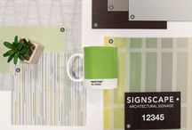 Commercial Interior Design / Need design inspiration? Here are some design boards featuring Inpro materials, including solid colors, wood grains, solid surface and textiles.