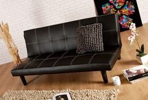 Leather Sofa Bed Single Faux Black Couch Living Room Modern Home Furniture Cheap