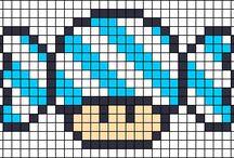 perler beads_캐릭터_슈퍼마리오 / perler beads,캐릭터,슈퍼마리오
