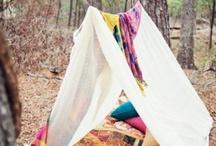 Kids camping/fishing styled shoot