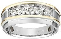 Mens Two Tone Rings / Why choose Mens Two Tone Rings? Answer: Their versatility. You can wear your two tone ring with other Platinum, Yellow Gold, White Gold & Silver jewelry. They will complement enhance the beauty of your other jewelry pieces.