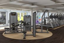 Great Commercial Gym Ideas / Do you want your own fitness studio be attractive?  Are you redesigning your commercial gym?  Here are some inspiration for you.