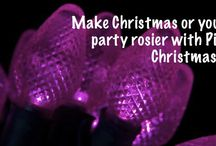 Pink Christmas Lights / We LOVE pink for Christmas!! Pink lights on a white or traditional green tree is a fantastic alternative to white lights. Pink is also great for weddings and Valentines!!!   / by Christmas Light Source