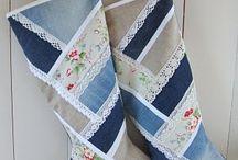 Homemade jean stockings