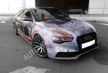 Rust / Полная оклейка Audi S5 винилографией с дизайном (Rust)