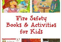Fire safety for kids / Family fire safety plan: fire prevention kids activities, home escape plan, firefighters, safe place, emergency contacts, 911