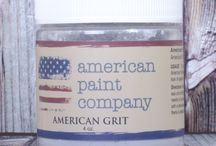 American Grit / It is like dust in a jar! When your wax is still wet... You can pounce it on the project. Works best for pieces with detail so it can sit and make the detail areas pop and look really aged.