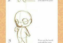 kresba stylizace člověk