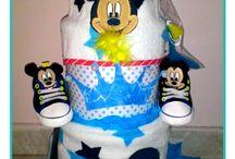 diaper cakes for boys / δωροτουρτες νεογεννητων πριγκιπων