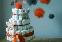 Diapers cake / My most chic diapers cakes...simple but eye-catchers