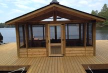 The dock is the cottage life / Screen room on water, or a  gazebo float ?  Window enclosures systems
