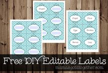 Printables  / Templates, freebies, fonts and design ideas for printing.