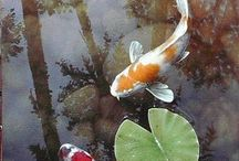 Koi Fish artwork / Artwork that features koi fish