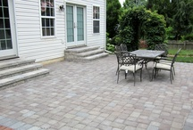 Hardscaping - pavers designs and ideas / Interlocking paving stones patios, pool decks, driveways, walkway, walls and steps. Design Ideas for your dream backyard.