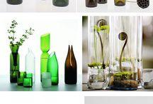 garrafas de vino lámpara