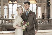 Bridal Shoot - Those Were The Days Vintage Boutique / Bridal shoot at Carberry Tower: Dresses by Those Were The Days Vintage Boutique, Menswear by Walker Slater, Stylist Ann Russell @ Frock Trade