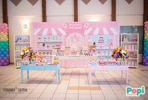 Festa Sorveteria da Carol by Popi / Festa com tema sorveteria para a pequena Carol. Criação e produção por Popi Design de Eventos