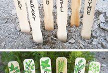 Záhrada - označovače rastlín
