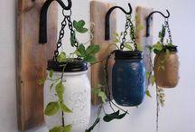 idées plantes et lanternes déco