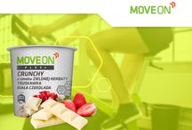 MoveOn Inspiracje / Poznaj wysokobiałkowe posiłki MoveOn z serii Extreme lub Plus+ w różnych smakach i odkryj posiłek po lub przed treningiem na nowo!  | Meet high-protein meals MOVEON Extreme or Plus+ and discover a meal before or after a workout! #moveon #moveonsport #nutrition #owsianka #musli #crunchy #workout #sort