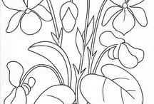 jarné kvety omaľovanky