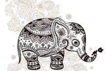 Tatuaże ze słoniem