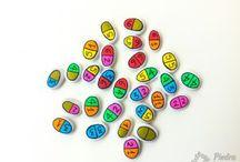 Piedras pintadas con rotuladores