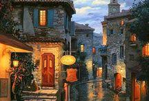 Města a malíři