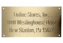 Engraved Brass Plates / by United States Flag Store