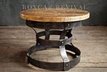 Boxcar Revival Tables and Desks / We have a growing section of variable sized tables and desks made from reclaimed boxcar wood and both steel and wood bases.   More can be found at BoxcarRevival.com.