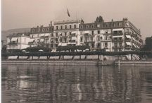 Historical pictures / Take a look at Hotel Des Trois Couronnes, Vevey Switzerland in the black and white photo era.