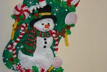 Bota niño de nieve y bastones