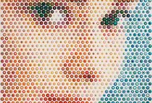 Gavin Rain Art / Up Close, Rain'S Paintings Are Made up of Small Concentric Dots Painting In Different Colors.His remarkable technique, a blend of his origins, his studies, aptitudes and personal talent, is both unique and participative, so that all who look at one of his paintings can perceive the convergence of two opposing pictorial styles: the abstractness of the multitude of colorful concentric circles
