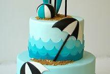 Twins' First Birthday Cake