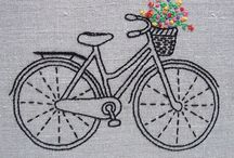BIKE*CROSS STITCH-EMBROIDERY
