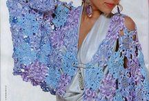 Crochet bolero, shawl, wrap, poncho / With patterns