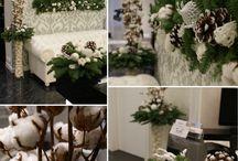 Новогодний и Рождественский декор / Декоративные елочки и веночки ручной работы.