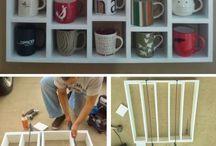 Ideias de arranjos para xícaras, copos quadros e outros