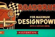 Roadbrush Font By Kustomtype / http://www.myfonts.com/fonts/kustomtype/roadbrush/