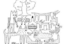 Artistic coloring pages