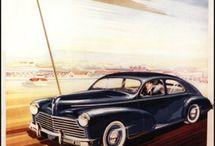 """Affiches """" Publicités voitures """" / Panneaux """" PUB """" voitures modernes et anciennes."""