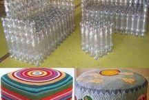 Flasky sedacka taburetka domcek