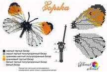 vlinders van kralen