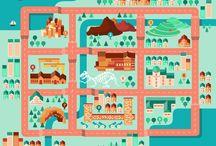 Illustration Maps & City